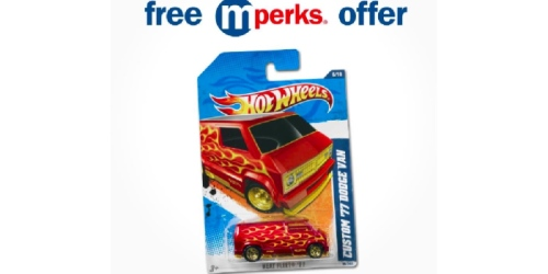 Meijer mPerks: Possible FREE Hot Wheels Diecast Vehicle eCoupon