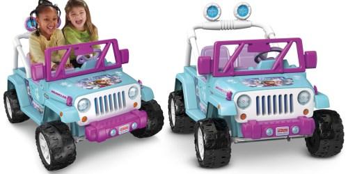 Amazon: Power Wheels Disney Frozen Jeep Wrangler $199 Shipped + Score FREE Gund Bear
