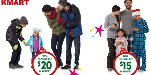 Kmart: Earn $15-$20 in Points w/ Outerwear, Cold Weather Accessories & Sleepwear Purchases