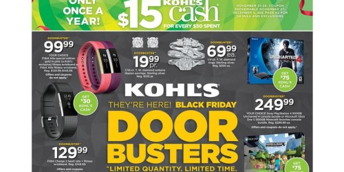 Kohl's: Black Friday Ad Scan Has Been Leaked