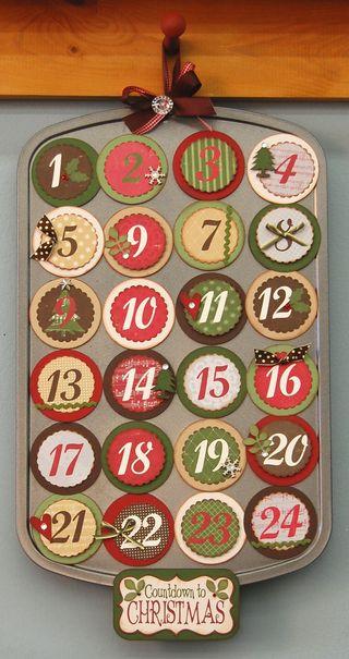 Muffin Pan Advent Calendar