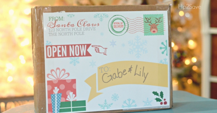 FREE Printable Shipping Label from Santa Claus
