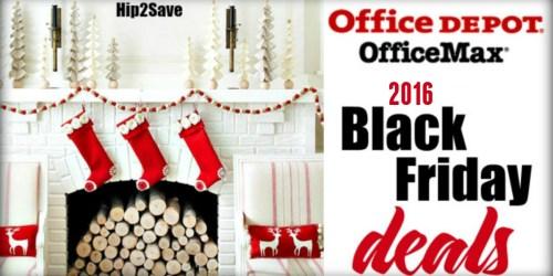 Office Depot/Office Max: 2016 Black Friday Deals