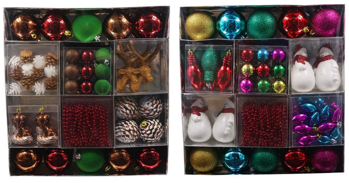kohls 50 piece st nicholas square christmas ornament sets only 1184 regularly 5999 hip2save