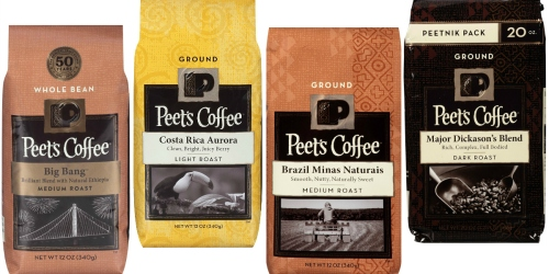 Amazon: Peet's Coffee 12oz Bags Only $5.19 Shipped