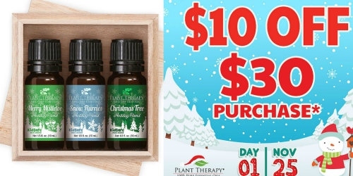 Plant Therapy: $10 Off $30 Purchase = Christmas Essential Oil Set + Spiced Orange Oil $21.94 Shipped
