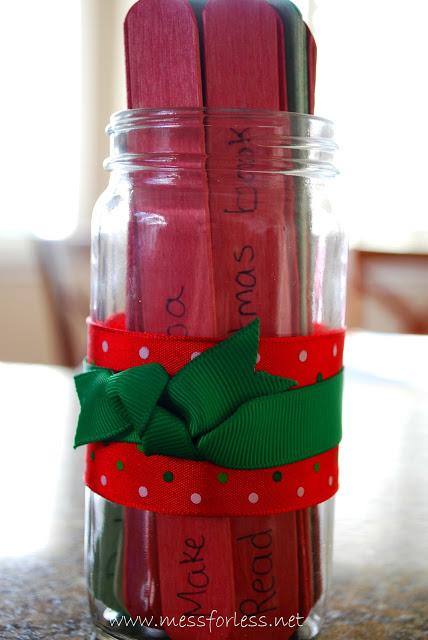 Craft Stick Advent Jar