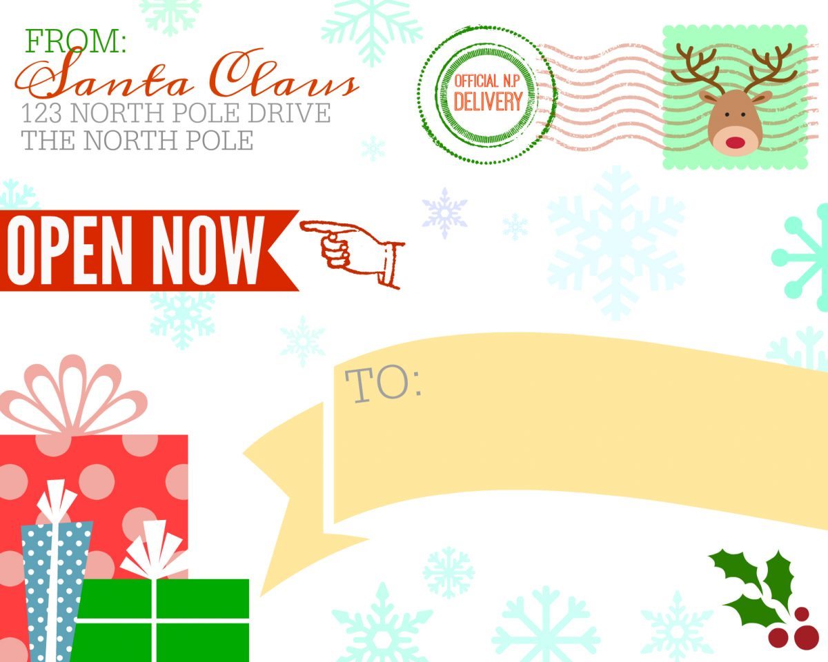 picture relating to Free Printable North Pole Special Delivery Printable named Absolutely free Printable Transport Label in opposition to Santa Claus - Hip2Help you save