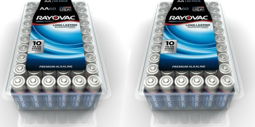 Home Depot: Rayovac AA Batteries 60ct Pack Only $9.97 (Just 17¢ Per Battery)
