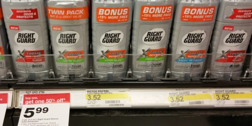 New $1.50/1 Right Guard Deodorant Coupon = Only $1.14 Each at Target + More