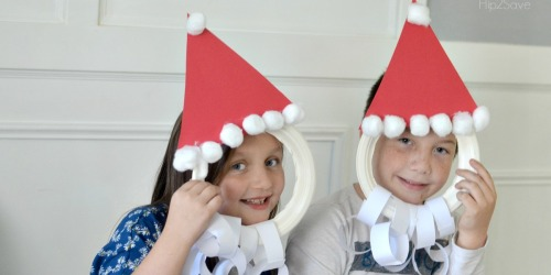 Santa Face Photo Prop (Easy Paper Plate Christmas Craft)