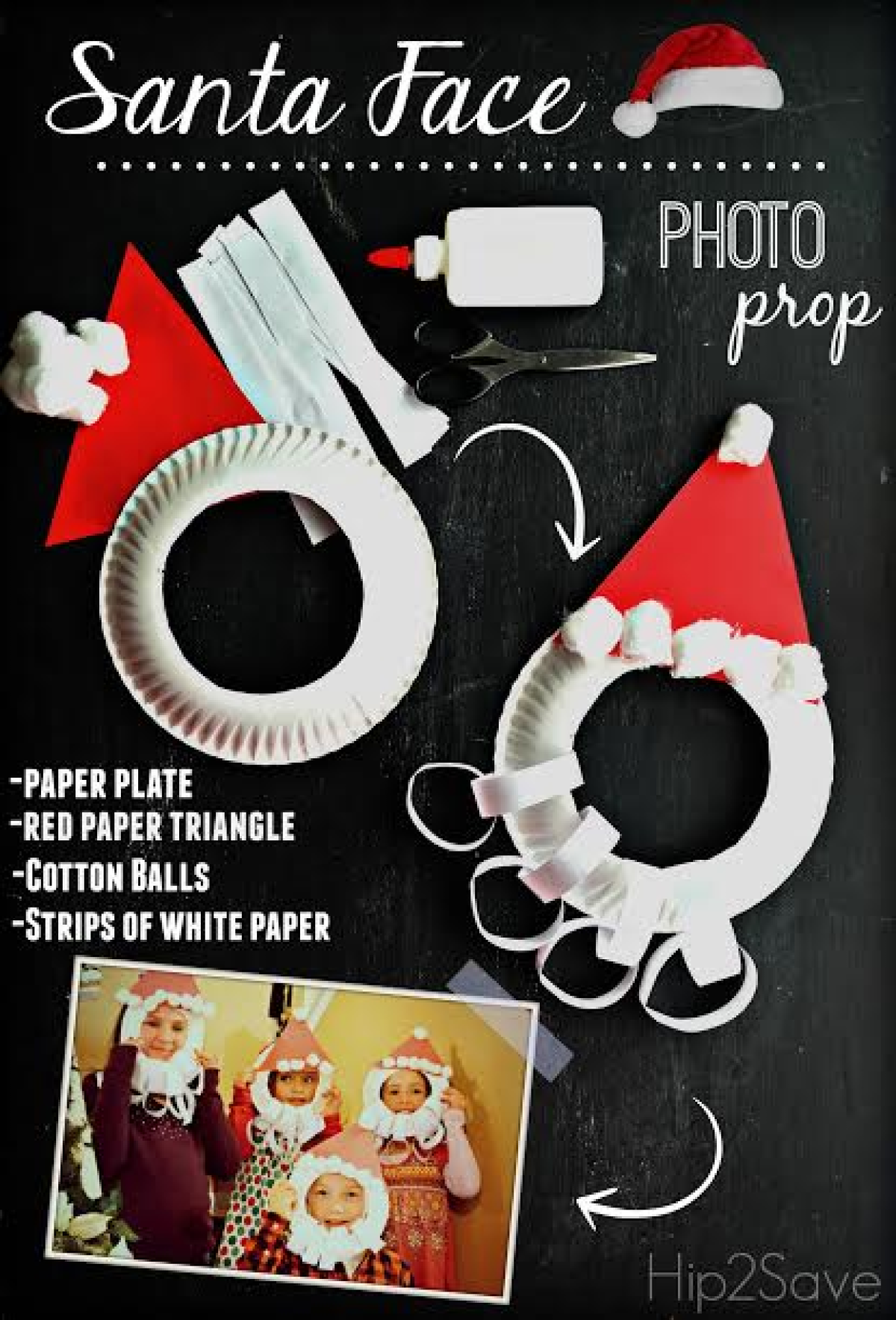 How to make an origami Santa Claus's face: page 1 | 1767x1200