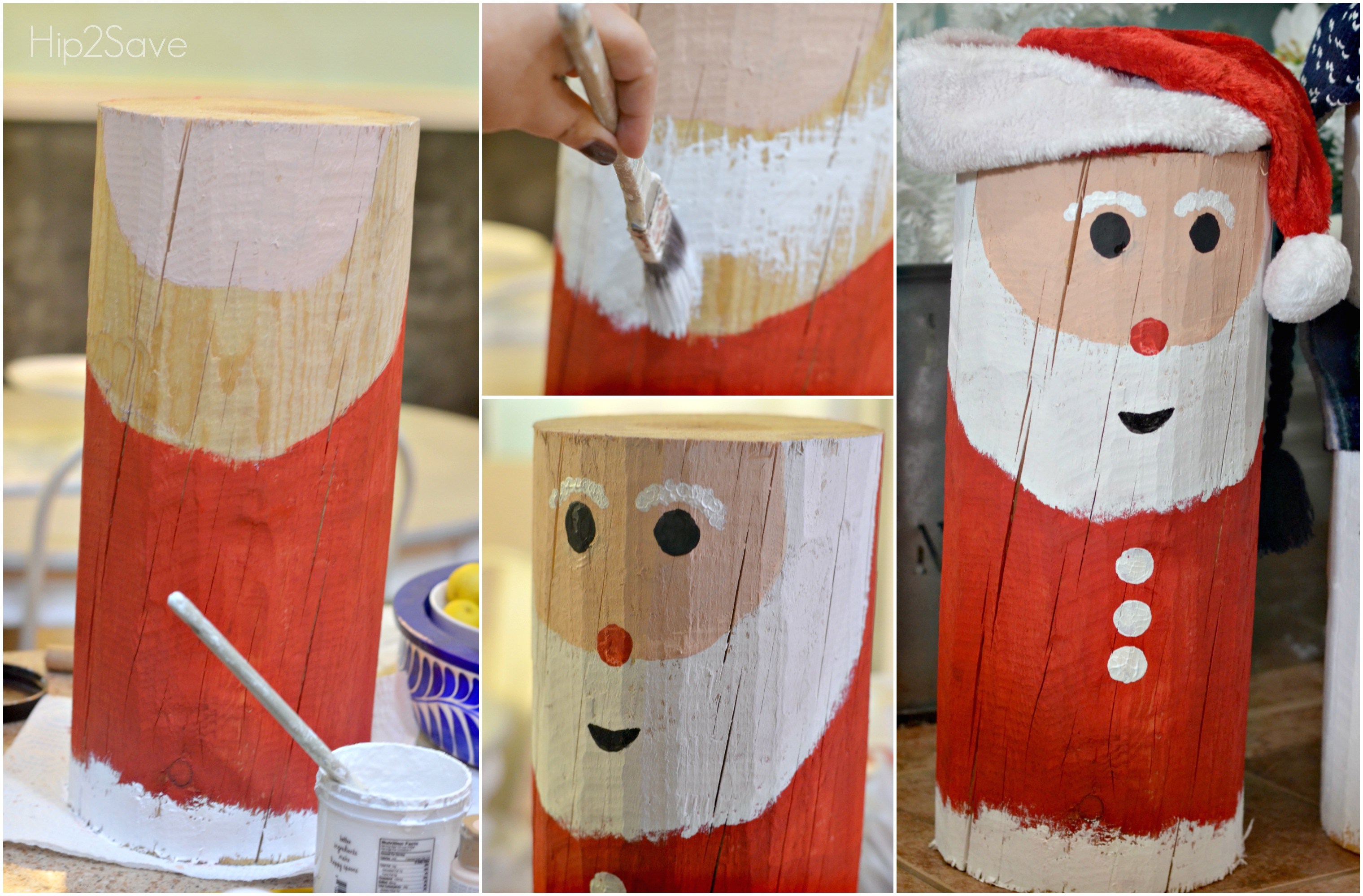 santa-painted-log-by-hip2save-com