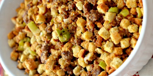 Need an Easy Thanksgiving Side Dish? Make this Easy Sage Sausage Stuffing…