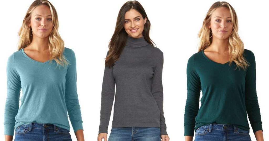 585b7f964eae3d Hop on over to Kohl s.com where they are offering up Women s SONOMA and  Croft   Barrow Long Sleeve Tops for just  4.99! Even sweeter