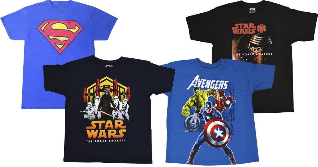 64dcdf5d Head on over to BestBuy.com where they are offering up select Disney, Marvel  & Warner Bros Tees for ONLY $2.99 shipped – choose from tees for men and ...