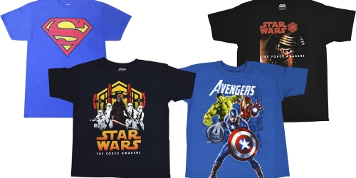 Best Buy: Disney & Marvel Tees ONLY $2.99 (Regularly $12.99)