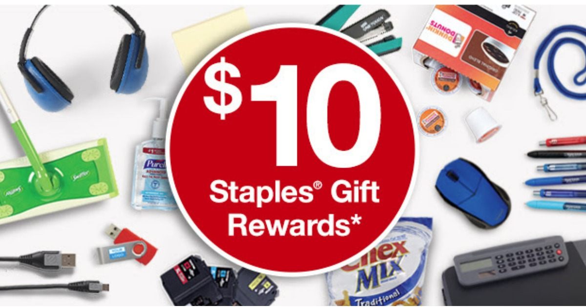 staples rewards members  possible free  10 gift reward  check your inbox
