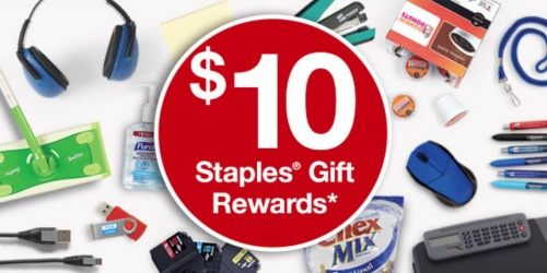 Staples Rewards Members: Possible FREE $10 Gift Reward (Check Your Inbox)