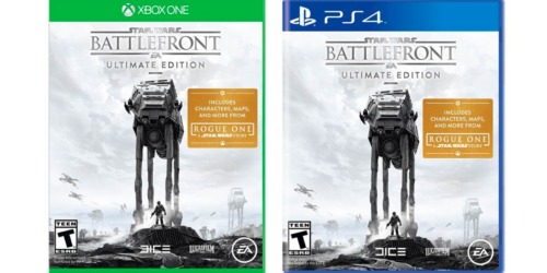 Star Wars Battlefront Ultimate Edition Xbox One or PS4 Only $19.99 Shipped (Reg. $39.99) + More
