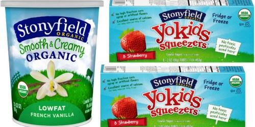 Rare $2.50/2 Stonyfield Organic Yogurt Coupons (Select Regions) = Yogurt Quarts $1.74 Each at Target