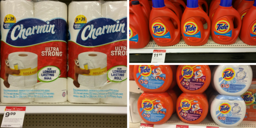 Target Shoppers! Stock up on Tide Detergent, Charmin, Downy Unstopables & More