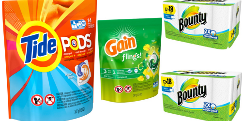 NEW Bounty, Tide & Gain Coupons = Great Buys At CVS & Target