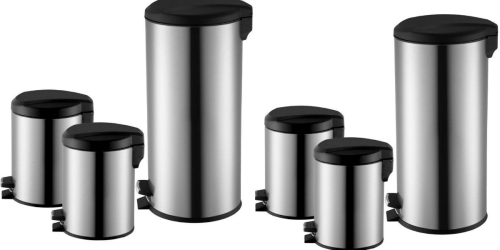 Home Depot: 3 Pack of Stainless Steel Step-On Trash Cans Only $19.88 + Free Store Pickup