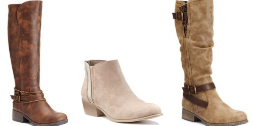 Kohl's.com: *HOT* Boots ONLY $16.99 Per Pair + Earn $15 in Kohl's Cash When You Order 3 Pairs