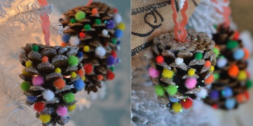 Easy DIY Christmas Ornaments Using Craft Poms Poms