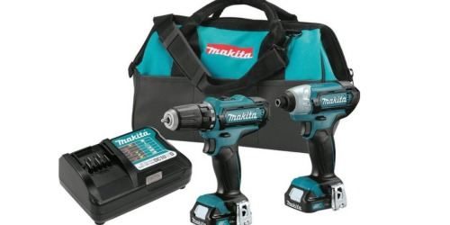Highly Rated Makita 12V Max CXT Lithium-Ion Cordless Combo Kit (2 Piece) Only $99 Shipped