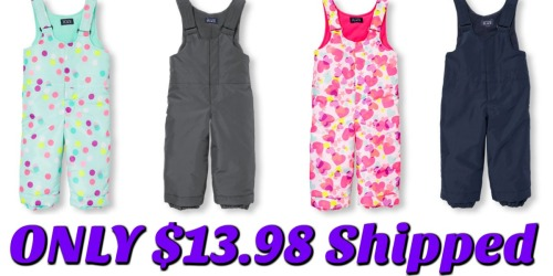 The Children's Place: Toddler Snow Overalls Only $13.98 Shipped (Regularly $34.95)