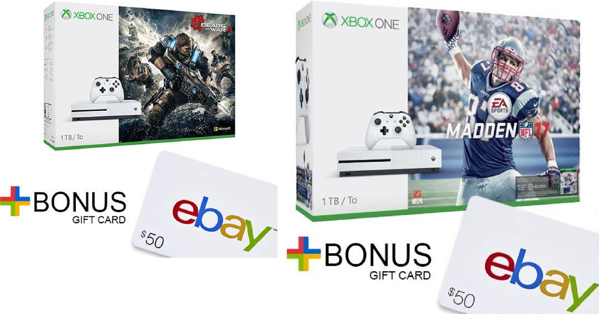 Nice Buys On Xbox One Console Bundles Up To 50 Ebay Gift Card Hip2save