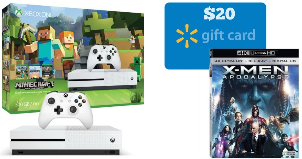 Walmart: Xbox One S 500GB Console Bundle + $20 Gift Card + 4K Ultra