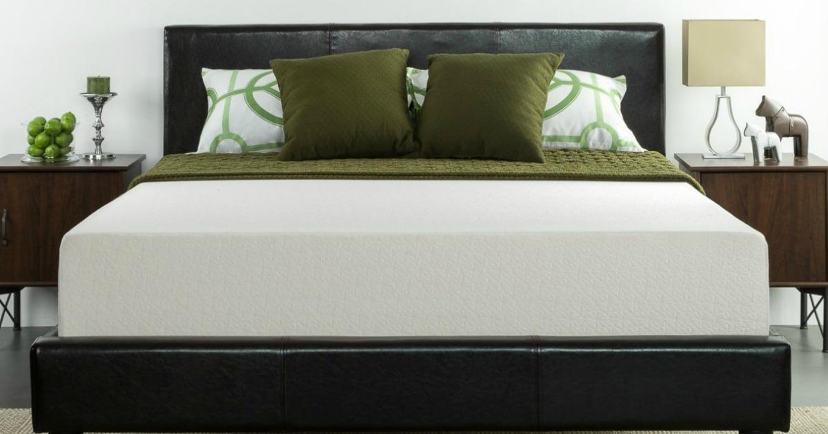 amazon zinus 12 memory foam green tea king mattress 204 shipped regularly 349 more. Black Bedroom Furniture Sets. Home Design Ideas
