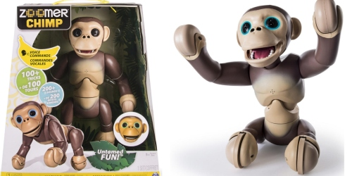ToysRUs.com: Interactive Zoomer Chimp Only $59.99 Shipped (Regularly $119.99)