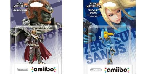 Walmart: Super Smash Bros amiibo for Nintendo WiiU or New 3DS Only $4.99 Each (Regularly $12.96)