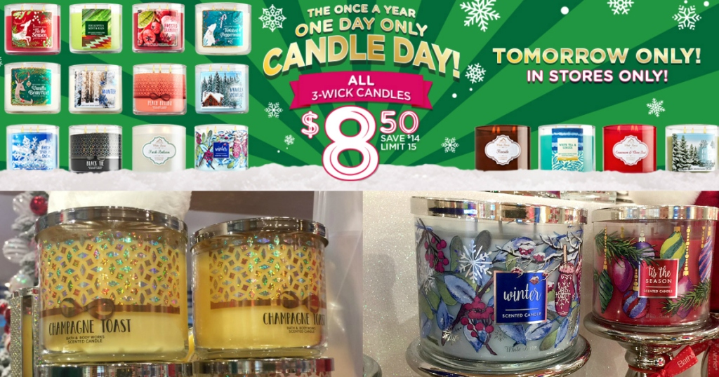 Bath Amp Body Works 3 Wick Candles Only 8 50 On December