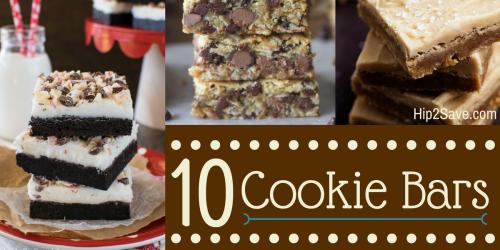 10 Yummy Cookie Bar Recipes