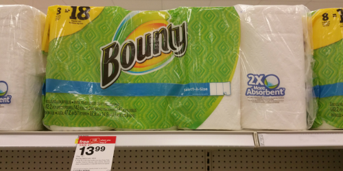 New & High Value $1/1 Bounty Paper Towels Coupon + Target Deal