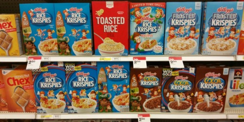 Target: 30% Off Kellogg's Cereals = Great Buys on Rice Krispies, Frosted Flakes & More