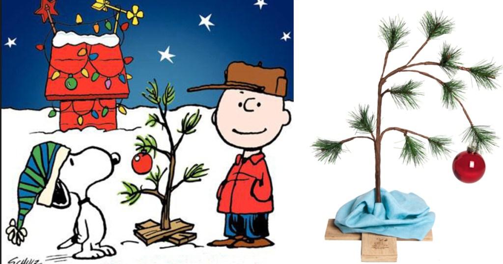 Charlie Browns Christmas.Sears Charlie Brown S 24 Christmas Tree W Blanket