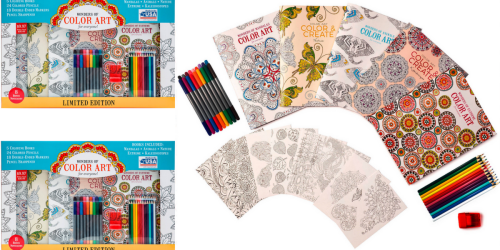 Walmart: Adult Coloring Book Kit Only $9.97 (Includes 5 Books, Markers, Colored Pencils & More)
