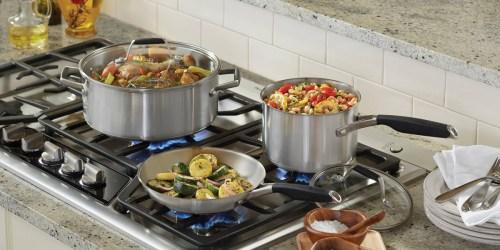 Target: Calphalon 8 Piece Stainless Steel Cookware Set $74.99 Shipped After Gift Card (Reg. $149.99)