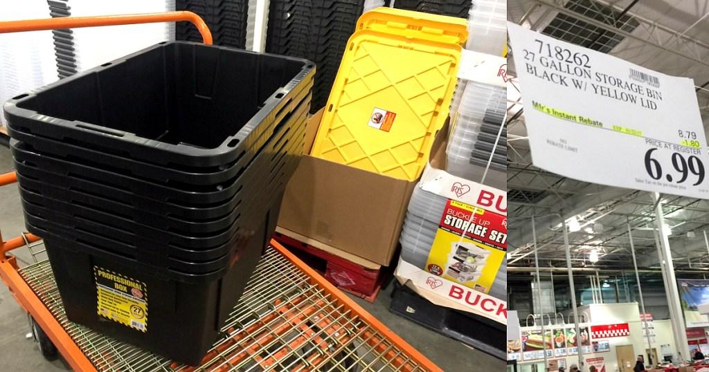 Costco 27 Gallon Professional Storage Bins Just 6 99