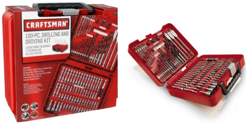 Sears: Craftsman 100-Piece Drill Bit Accessory Kit Only $12.99 (Regularly $29.99)