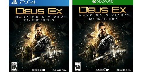Deus Ex: Mankind Divided for PS4 or Xbox One Only $19.99 (Regularly $59.99)