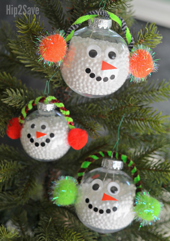 Diy Simple Snowman Christmas Ornament Hip2save