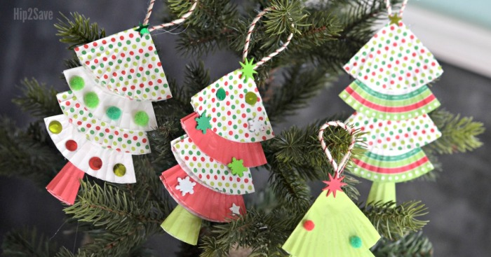 Cupcake Liner Christmas Ornaments (Easy Kids Craft)