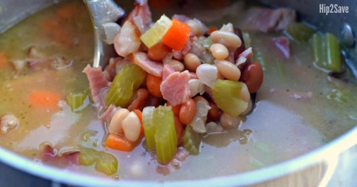 easy-ham-bean-soup